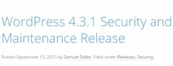 Обновление WordPress 4.3.1