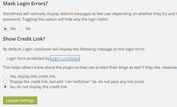 Login LockDown WordPress