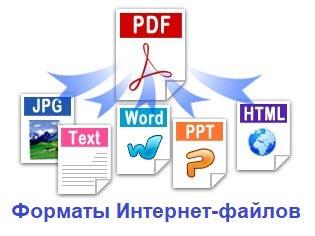 Форматы Интернет-файлов